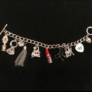 Betsey Johnson silver charm bracelet